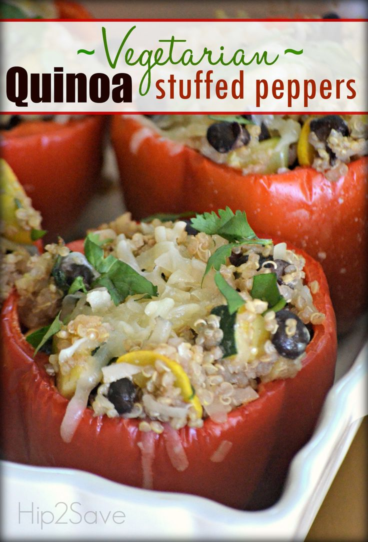 Vegetarian Stuffed Peppers (Meatless Monday Series) – Hip2Save