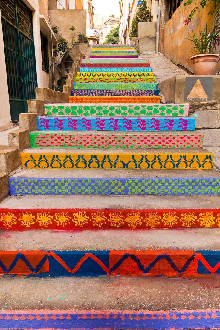 pintar uma escada