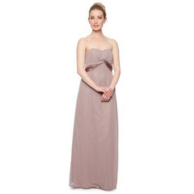 Debut Elisa Satin Twist Bandeau Maxi Dress- at Debenhams.com