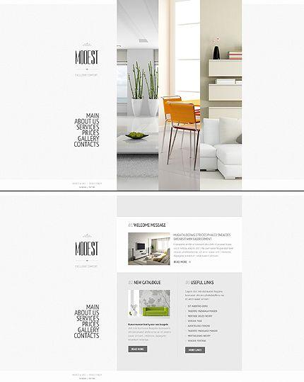 Template 43493   Modest Interior Website Template
