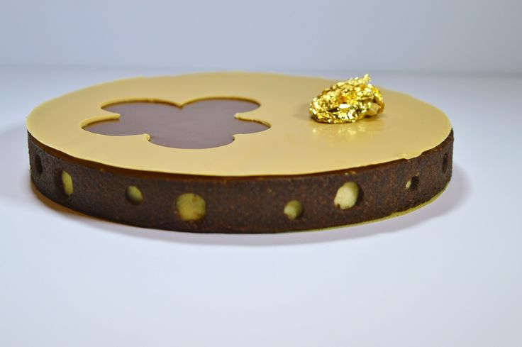tart jivara milk chocolate ganache and salted peanut soft caramel