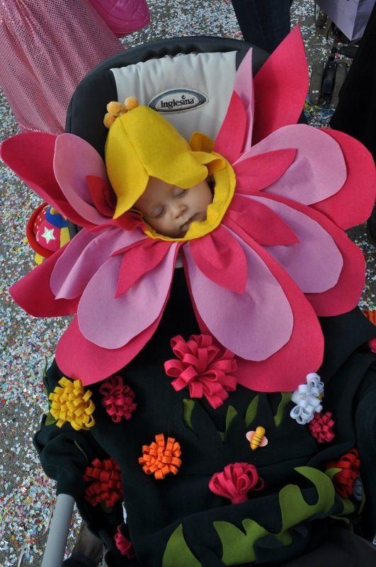 costume per bebè da fiore