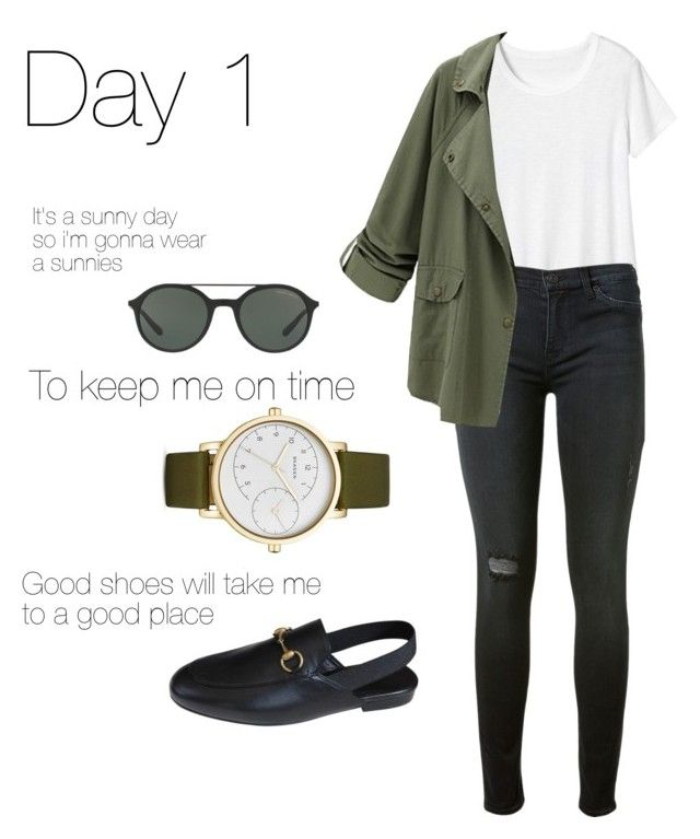 WHAT I WEAR TODAY by bytessa on Polyvore featuring polyvore fashion style Toast Chicnova Fashion Hudson Gucci Skagen Giorgio Armani clothing