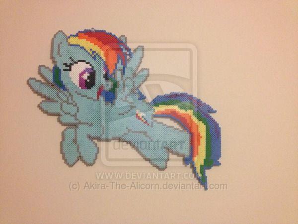 MLP Rainbow Dash Perler - Wall Hanging by Akira-The-Alicorn on deviantART