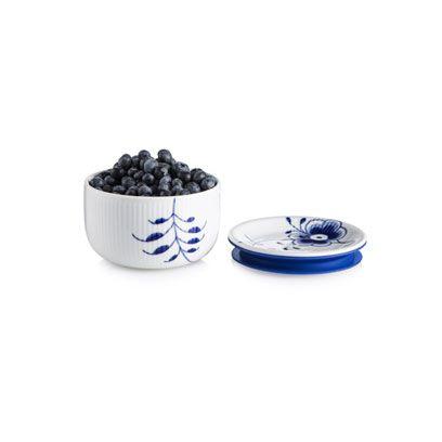 Royal Copenhagen Blue Fluted Mega Storage Jar Small