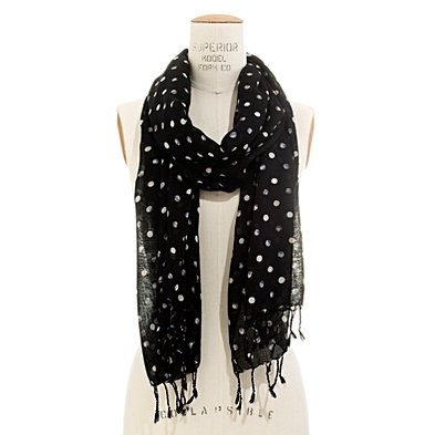 polka dot scarf / madewell