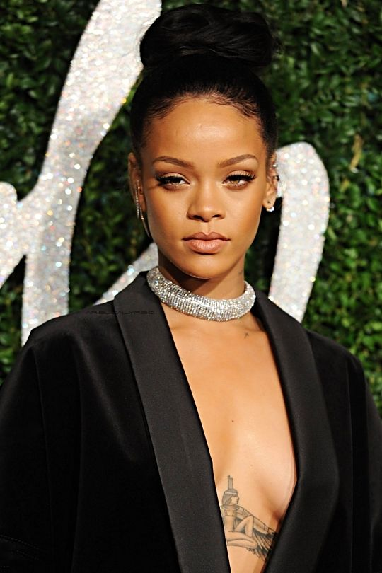"Rihanna at ""British Fashion Awards"" in in London, the red carpet. (1st December)"