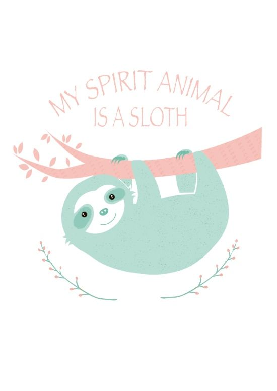 My spirit animal is a Sloth Canvas Print by Creo Tu Mundo