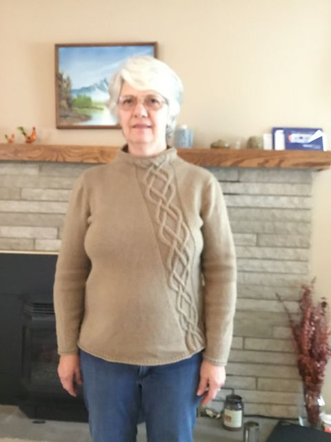 jem13's Finished Rising Spades KAL pullover!