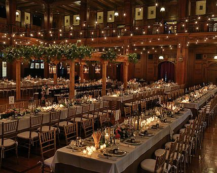 A Napa Valley Wedding Reception in the #Ballroom #Tuscany | Scottish Rite Cathedral Events #Wedding #Reception #Indianapolis