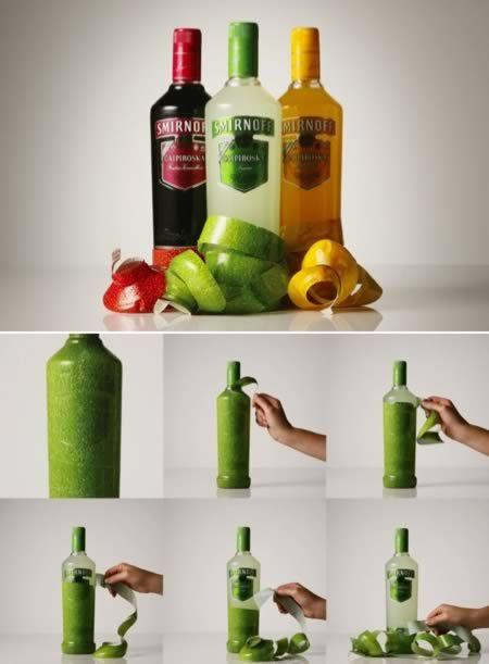 Peelable Smirnoff Bottles PD