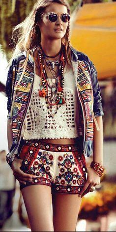 estilo bohemio, hippie.