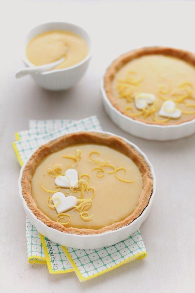 Crostatine di Kamut con crema al lemon curd e cioccolato bianco