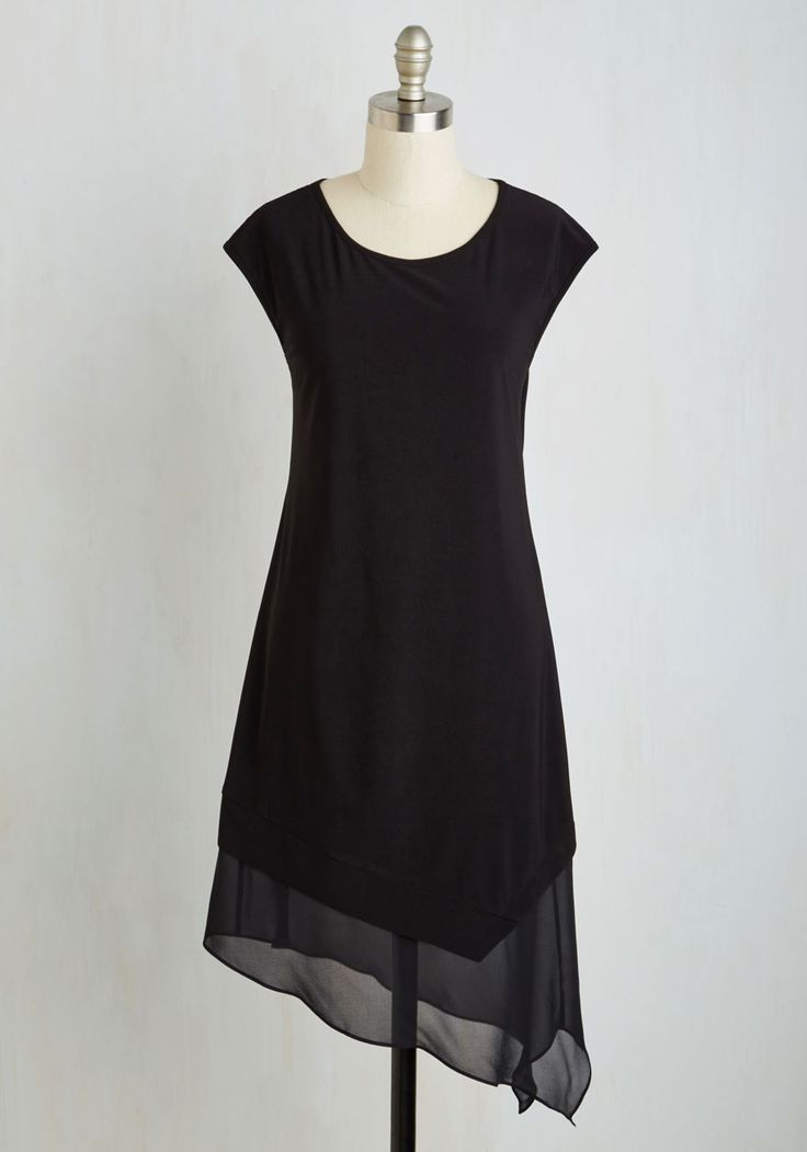 Smooth Stunner Dress. Wowing the crowd is your forte, and with this asymmetrical LBD, youve got a ticket to a look that will astound every time! #black #modcloth