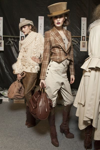 Christian Dior - Ready To Wear - Fall 2010 / I need the vintage-inspired ensemble in the foreground...