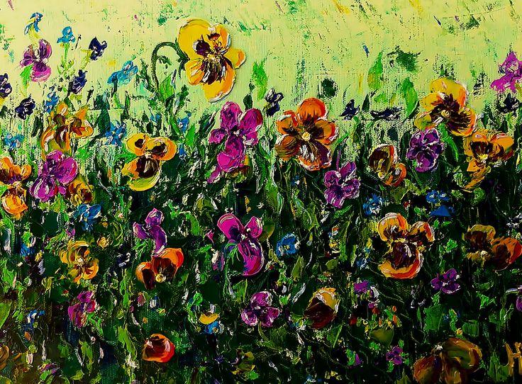 Цветок Святой Троицы, 30х40, холст масло, 2016