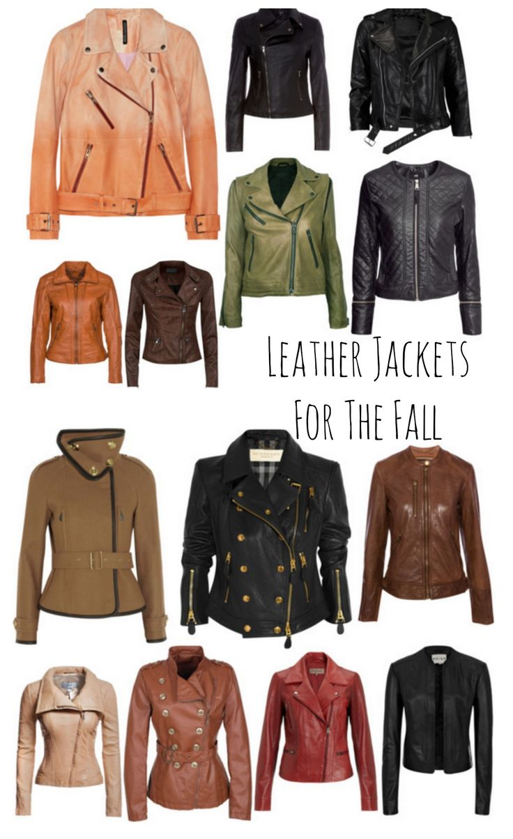 Leather Jackets for the Fall #fashion l LadyandtheBlog.com