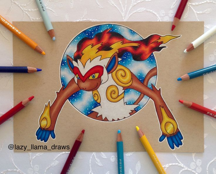 Drawing galaxy Pokémon Infernape