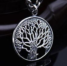 Sterling 925 stříbro strom života přívěsek retro thai silver odstavec módní šperky milenci zcela nový originál (Čína (pevninská část))