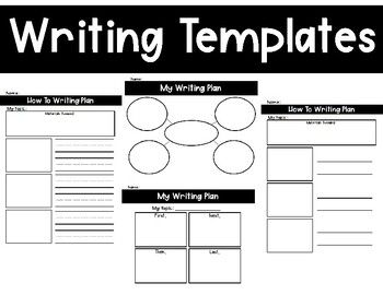 Help students plan out their writing by providing them a