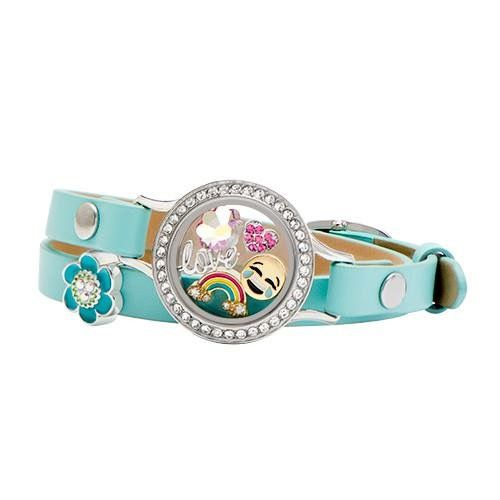 Leather wrap bracelet Origami Owl