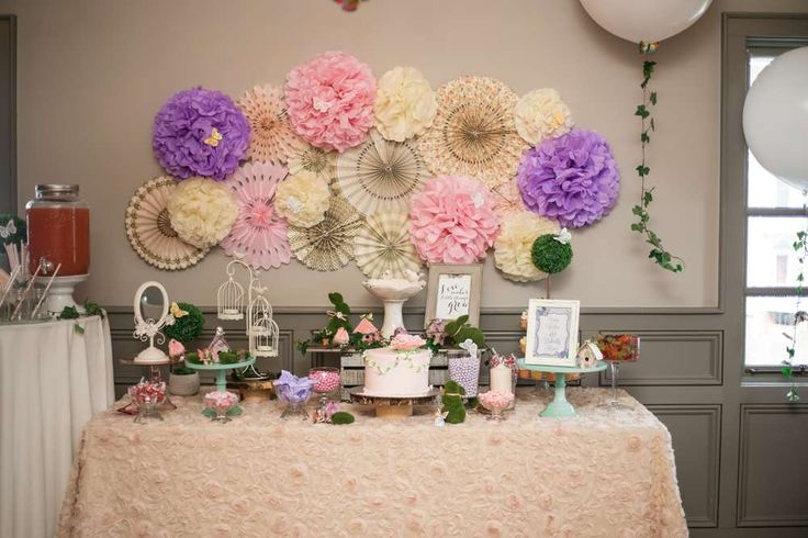 Enchanted Garden Baby Shower Party Ideas | Photo 1 of 76 | Catch My Party