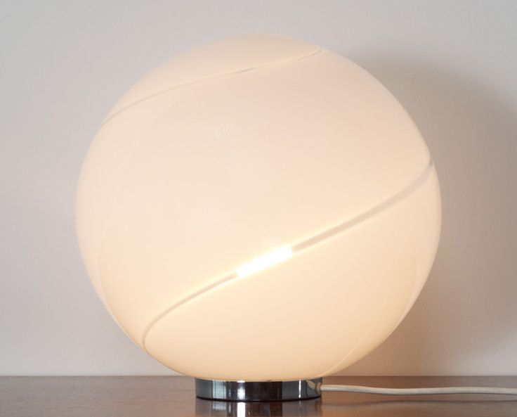 Alfredo Barbini Spherical glass table lamp Murano | http://www.furniture-love.com/browse.php | From selection of important 20th century modern furniture. -- Great Christmas Holiday Gift