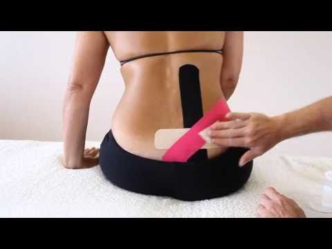 ▶ How to treat Sacroiliac Joint and lower back pain - Kinesiology Taping…