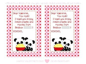 These Redbox blank code Valentine cards make a quick and easy gift! Who doesn't like to cuddle up with a movie and some junk food, right? Just print, purchase Redbox codes online, and write the code into the gray box. Include some popcorn or other movie snacks and done!