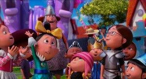 Little Girl Ask to Gruzinkerbell Despicable Me 2