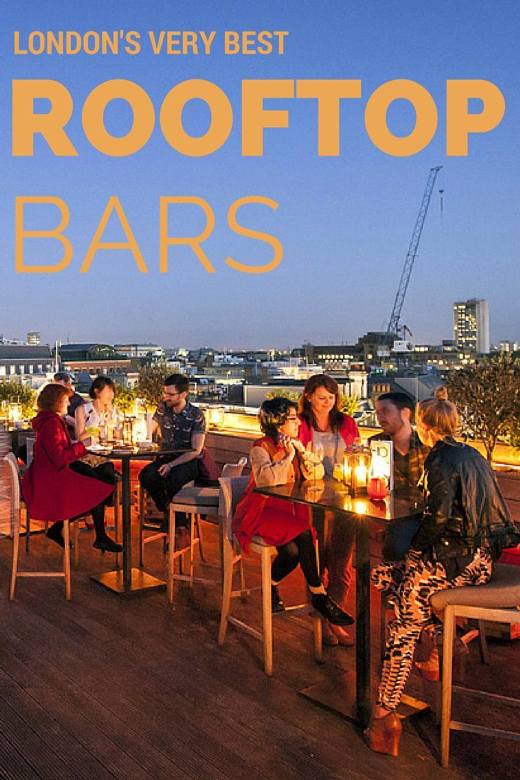 Find London's rooftop bars, pub roof terraces, and other places to enjoy a drink in the open air.