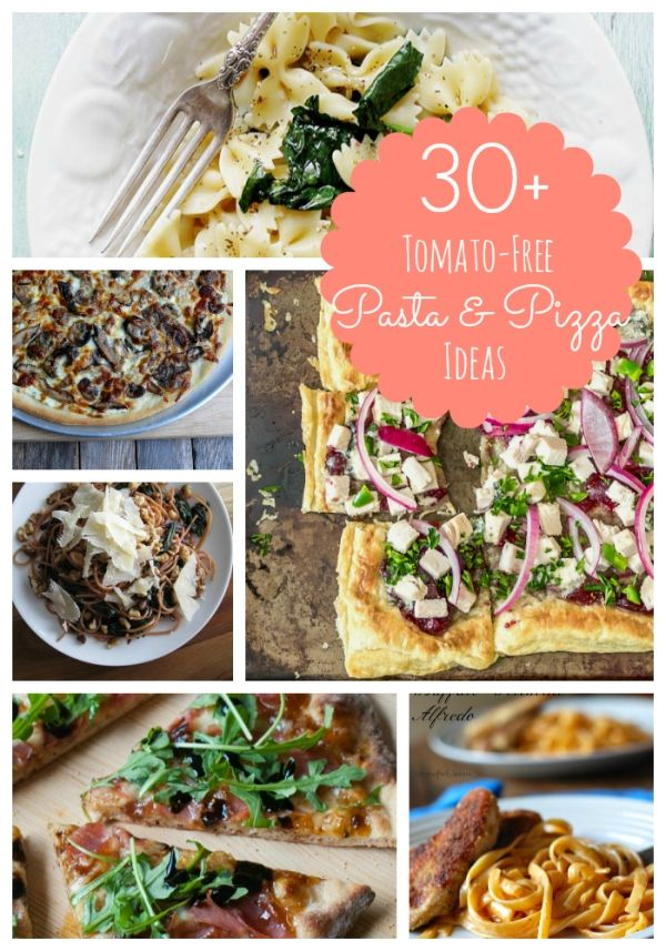 30 Plus Tomato Free Pizza and Pasta Ideas -