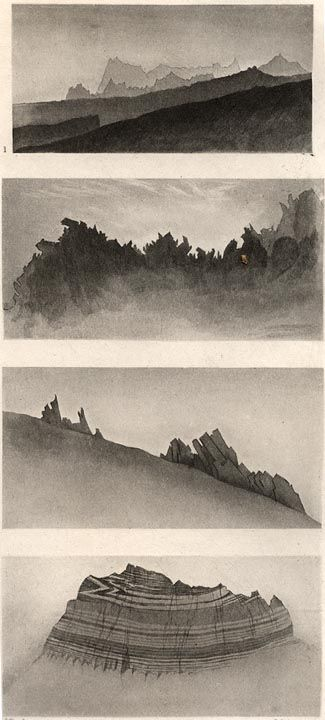 Aiguille Stucture  John Ruskin  1856  Ruskin's drawings engraved by J. C. Armytage