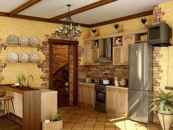 Оформление свободной стены в кухне :: Фото красивых интерьеров