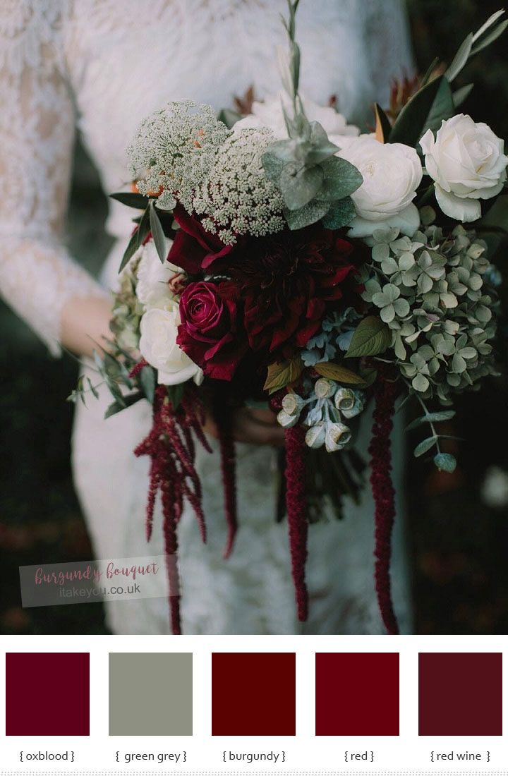 Burgundy wedding bouquet | itakeyou.co.uk #bouquet #weddingbouquet #autumnbouquet