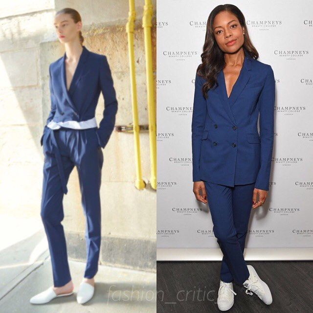 Naomie Harris was working a suit and sneakers combo courtesy of Gabriela Hearst. . #naomieharris #GabrielaHearst #celebfashion #celebstyle #redcarpetfashion #celebrityfashion #redcarpetstyle #celebritystyle #instastyle #instafashion