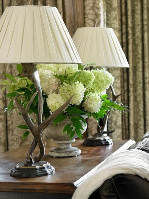 Love The Lamps Sofa Table Rustic Decor Vignette