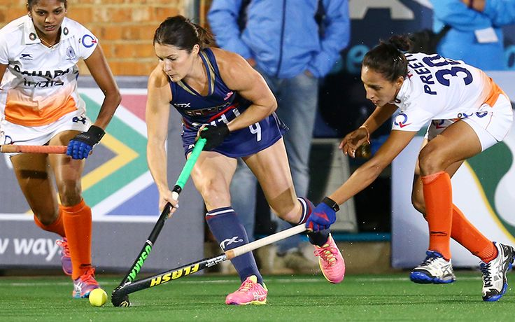 The U.S. Women's National Team faced FIH Hero World Ranked No. 12 India in their second pool play match of the International Hockey Federation (FIH) Hockey World League Semifinals in Johannesburg, South Africa. USA opened the scoring in the second quarter and although India found the equalizer in the third, a strong collective second half scoring performance lifted Team USA over India, 4-1. #HWL2017 #UN1TED