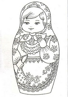 Russian doll embroidery