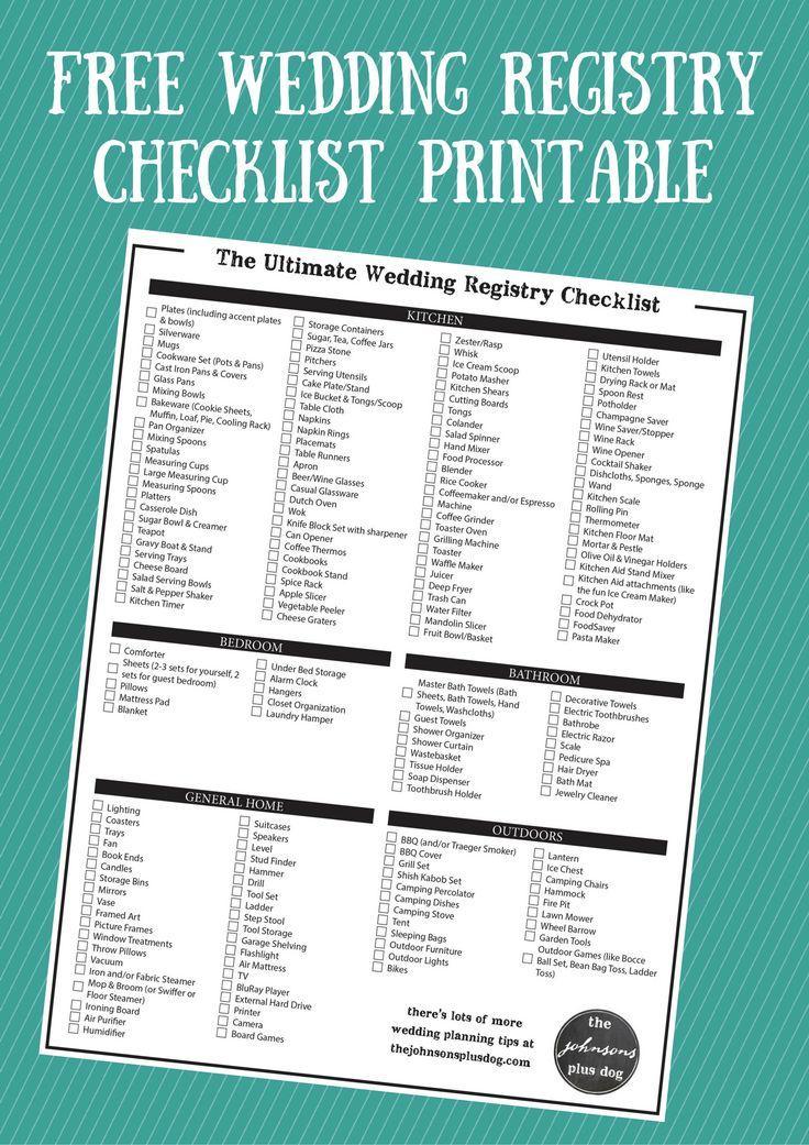 Best 25 Wedding registry checklist ideas on Pinterest  Wedding registry list Wedding gift