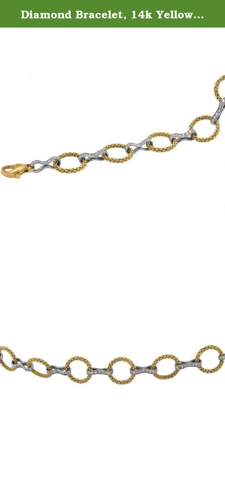 Diamond Bracelet, 14k Yellow Gold Diamond Tennis Bracelet. 14K Yellow Gold Diamond Tennis Bracelet. 2.95CT Total Diamonds. SI Quality, G-H Color Diamonds. SIZE 7 INCHES.