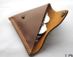 handmade leather wallet change wallet coin purse on Etsy, $13.00