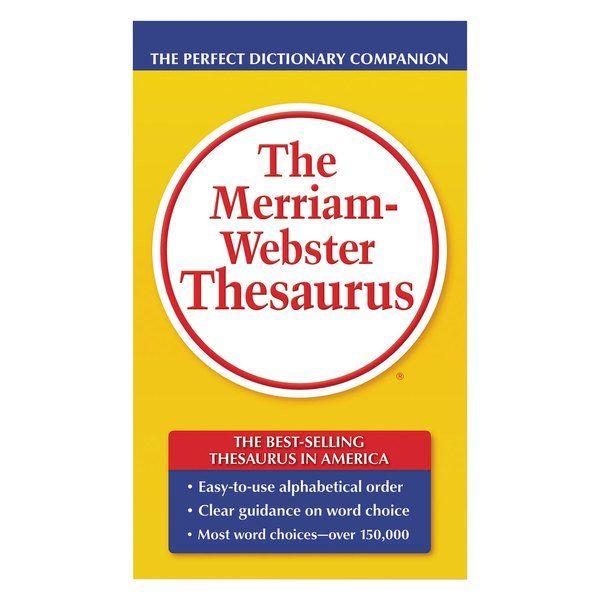 Merriam Webster Mer850 800 Page Thesaurus In 2020 Thesaurus Word Choice Merriam Webster