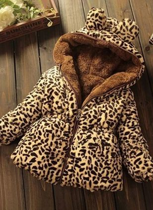 36a59e22fb5d Girls  Cute Leopard Hooded Coats