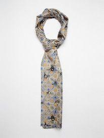 Vivienne Westwood Scribble Orb Silk Scarf