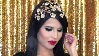 In this tutorial I share my festive makeup look. I love this time of year as I get to spend it with my family and friends and the memories are timeless. During the holidays we always have dress up occasions and my go-to makeup for these events is my gold and black smokey eye, as I love accessorising with gold.
