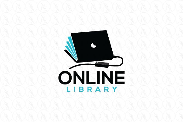 Online Library - $299 (negotiable) http://www.stronglogos.com/product/online-library #logo #design #sale #IT #computers #online #laptop #library #audible #books #blog