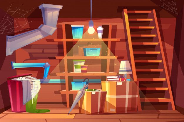 Download Cellar Interior Storage Of Clothing Inside The Basement