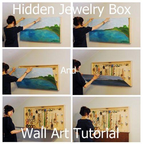Hidden Jewelry Box And Wall Art Tutorial - DIY Gift World