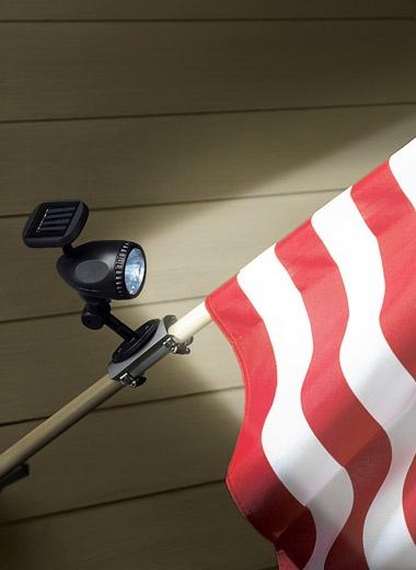 Solar Flag Pole Light | Outdoor Lighting | CarolWrightGifts.com